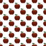 Άνευ ραφής σχέδιο τέχνης της Apple κόκκινο στο άσπρο υπόβαθρο απεικόνιση αποθεμάτων