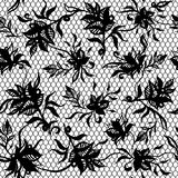 Άνευ ραφής σχέδιο της μαύρης δαντέλλας Στοκ Εικόνα