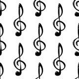 Άνευ ραφής σχέδιο του ρεαλιστικού τριπλού clef διάνυσμα Στοκ Φωτογραφίες