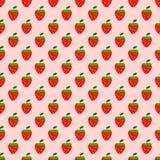 Άνευ ραφής σχέδιο του υποβάθρου φραουλών, διανυσματική απεικόνιση διανυσματική απεικόνιση