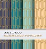 Άνευ ραφής σχέδιο 34 του Art Deco Στοκ Εικόνες