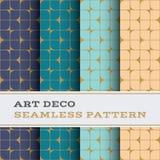 Άνευ ραφής σχέδιο 42 του Art Deco Στοκ Εικόνες