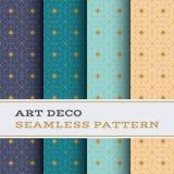 Άνευ ραφής σχέδιο 43 του Art Deco Στοκ Εικόνα