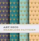 Άνευ ραφής σχέδιο 50 του Art Deco Στοκ εικόνα με δικαίωμα ελεύθερης χρήσης