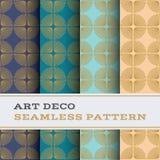 Άνευ ραφής σχέδιο 53 του Art Deco Στοκ Φωτογραφία