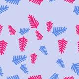 Άνευ ραφής σχέδιο του floral μοτίβου, κλάδοι, doodles συρμένο χέρι Στοκ Φωτογραφίες