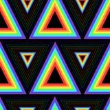 Άνευ ραφής σχέδιο τριγώνων ουράνιων τόξων χρώματος Στοκ Εικόνα