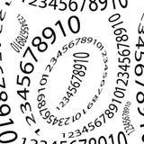 Άνευ ραφής σχέδιο των αριθμών σε ένα άσπρο υπόβαθρο Στοκ Εικόνες