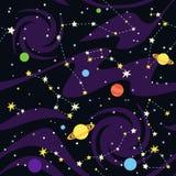 Άνευ ραφής σχέδιο των αστερισμών στο μαύρο υπόβαθρο Στοκ Εικόνες