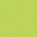 Άνευ ραφής σχέδιο των αφηρημένων κιτρινοπράσινων κύκλων Το EPS διάνυσμ απεικόνιση αποθεμάτων