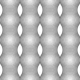 Άνευ ραφής σχέδιο των γραμμών κυμάτων ανασκόπηση γεωμετρική Διανυσματική απεικόνιση