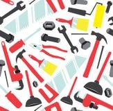 Άνευ ραφής σχέδιο των εργαλείων χεριών Στοκ Εικόνα