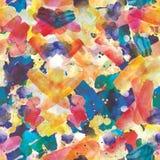 Άνευ ραφής σχέδιο των ζωηρόχρωμων κτυπημάτων watercolor Στοκ εικόνες με δικαίωμα ελεύθερης χρήσης