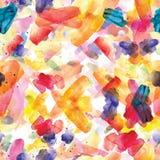 Άνευ ραφής σχέδιο των ζωηρόχρωμων κτυπημάτων watercolor Στοκ φωτογραφίες με δικαίωμα ελεύθερης χρήσης