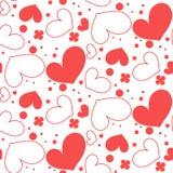 Άνευ ραφής σχέδιο των καρδιών ελεύθερη απεικόνιση δικαιώματος