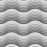 Άνευ ραφής σχέδιο των κυματιστών γραμμών ανασκόπηση γεωμετρική Απεικόνιση αποθεμάτων
