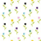 Άνευ ραφής σχέδιο των λουλουδιών στο αφηρημένο ύφος Στοκ φωτογραφία με δικαίωμα ελεύθερης χρήσης