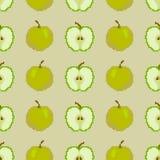 Άνευ ραφής σχέδιο των μήλων Κεντητική εικονοκυττάρου r ελεύθερη απεικόνιση δικαιώματος