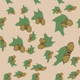 Άνευ ραφής σχέδιο των μοτίβων φθινοπώρου Στοκ Εικόνες
