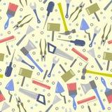 Άνευ ραφής σχέδιο των πολύχρωμων εργαλείων διανυσματική απεικόνιση