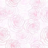 Άνευ ραφής σχέδιο των πολύχρωμων τριαντάφυλλων διανυσματική απεικόνιση