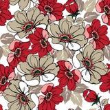 Άνευ ραφής σχέδιο των τριαντάφυλλων στα χρώματα κρητιδογραφιών διακοσμητική διακόσμηση Στοκ φωτογραφίες με δικαίωμα ελεύθερης χρήσης