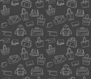 Άνευ ραφής σχέδιο των τσαντών γυναικών στον πίνακα κιμωλίας Στοκ φωτογραφία με δικαίωμα ελεύθερης χρήσης