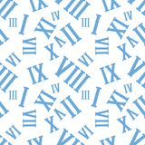 Άνευ ραφής σχέδιο υποβάθρου με τους ρωμαϊκούς αριθμούς σε ένα λευκό επίσης corel σύρετε το διάνυσμα απεικόνισης απεικόνιση αποθεμάτων