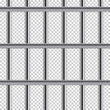Άνευ ραφής σχέδιο φραγμών φυλακών Διανυσματική ρεαλιστική απεικόνιση στο διαφανές υπόβαθρο απεικόνιση αποθεμάτων