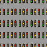 Άνευ ραφής σχέδιο φωτεινού σηματοδότη Ο σηματοφόρος ηλεκτρικής ενέργειας ρυθμίζει τη μεταφορά στον αστικό δρόμο σταυροδρομιών απεικόνιση αποθεμάτων