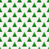 Άνευ ραφής σχέδιο Χριστουγέννων με γεωμετρικά fir-trees Στοκ φωτογραφίες με δικαίωμα ελεύθερης χρήσης