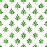 Άνευ ραφής σχέδιο Χριστουγέννων με γεωμετρικά fir-trees ελεύθερη απεικόνιση δικαιώματος