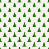 Άνευ ραφής σχέδιο Χριστουγέννων με γεωμετρικά fir-trees Στοκ Εικόνες