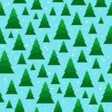 Άνευ ραφής σχέδιο Χριστουγέννων με γεωμετρικά fir-trees Στοκ εικόνα με δικαίωμα ελεύθερης χρήσης