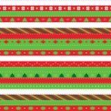 Άνευ ραφής σχέδιο Χριστουγέννων με τα δέντρα και snowflakes έλατου στοκ φωτογραφία με δικαίωμα ελεύθερης χρήσης