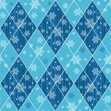 Άνευ ραφής σχέδιο Χριστουγέννων με τα μπλε rhombuses στοκ φωτογραφία