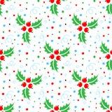Άνευ ραφής σχέδιο Χριστουγέννων του ελαιόπρινου Χριστουγέννων ελεύθερη απεικόνιση δικαιώματος