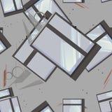 Άνευ ραφής σχέδιο Architectura Στοκ Εικόνες