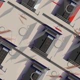 Άνευ ραφής σχέδιο Architectura Στοκ εικόνα με δικαίωμα ελεύθερης χρήσης