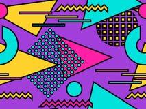 Άνευ ραφής σχέδιο Bauhaus Γεωμετρικά στοιχεία Μέμφιδα στο ύφος της δεκαετίας του '80 abstract background modern διάνυσμα Στοκ φωτογραφία με δικαίωμα ελεύθερης χρήσης