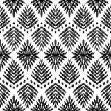 Άνευ ραφής σχέδιο Ikat ταπετσαρία μόδας Στοκ Εικόνες
