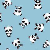 Άνευ ραφής σχέδιο panda κινούμενων σχεδίων απεικόνιση αποθεμάτων