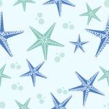 Άνευ ραφής σχέδιο Seastar Στοκ εικόνα με δικαίωμα ελεύθερης χρήσης
