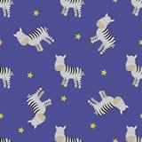 Άνευ ραφής σχέδιο Zebras ύπνου διανυσματική απεικόνιση
