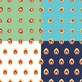 Άνευ ραφής σχέδια με τα αυγά Πάσχας Στοκ φωτογραφίες με δικαίωμα ελεύθερης χρήσης