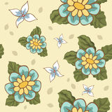 Άνευ ραφής σχέδια με το διάνυσμα λουλουδιών στοκ φωτογραφίες με δικαίωμα ελεύθερης χρήσης