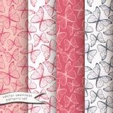 Άνευ ραφής σχέδια πεταλούδων περιλήψεων καθορισμένα Στοκ εικόνα με δικαίωμα ελεύθερης χρήσης