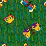Άνευ ραφής σχέδια πεταλούδων απεικόνιση αποθεμάτων
