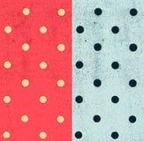 Άνευ ραφής σχέδια Πόλκα-σημείων, grunge υπόβαθρο με τα σημεία Στοκ Φωτογραφίες