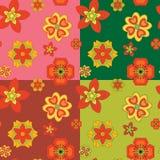 Άνευ ραφής σχέδια των διακοσμητικών λουλουδιών Στοκ Εικόνα